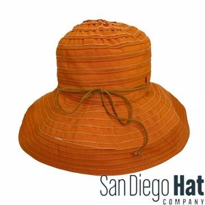 San Diego Hat Company Orange Bucket Hat UPF 50+
